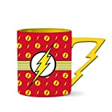 Silver Buffalo DC Comics Flash Stripes Logo Ceramic Mug, 20-Ounce, Red