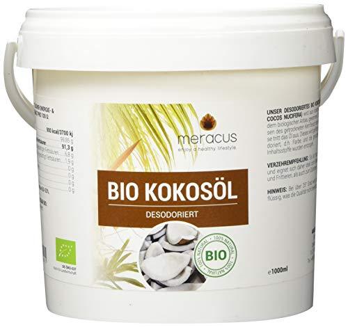 meracus Bio Kokosöl, Geschmacksneutral (desodoriert) im Eimer, 1er Pack (1 x 1 l)