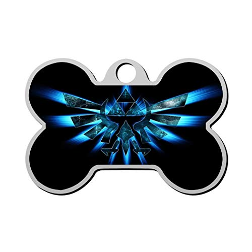 GPZHM The Legend of Zelda Pet Tag - Bone Shaped Dog Tag & Cat Tags Pet ID Tag Personalized Custom Your Pet's Name & Number 3D Printing