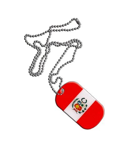 Peru Flag Dog Tag