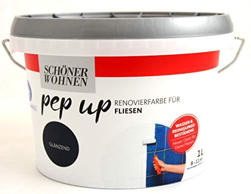 Pep up Renovierfarbe für Fliesen 1 l weiß glänzend