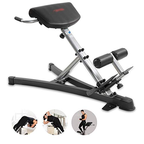 Adjustable Benches Dumbbell Bench Roman Chair Goat Stand-up Slim Waist Machine Waist Abdomen Training Device Fitness Equipment (Color : Black, Size : 140 * 70 * 88cm)