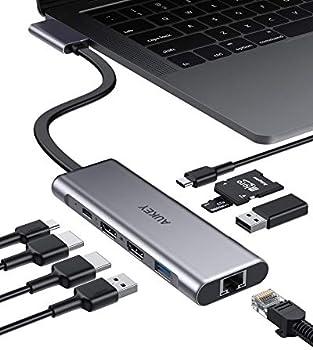 Aukey 9-in-2 Portable USB-C Hub
