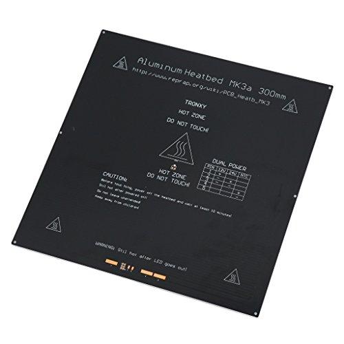 B Blesiya 300X300mm Printer Letto Riscaldato Hot Bed Alluminio per 3D Stampanti MK2A/MK3