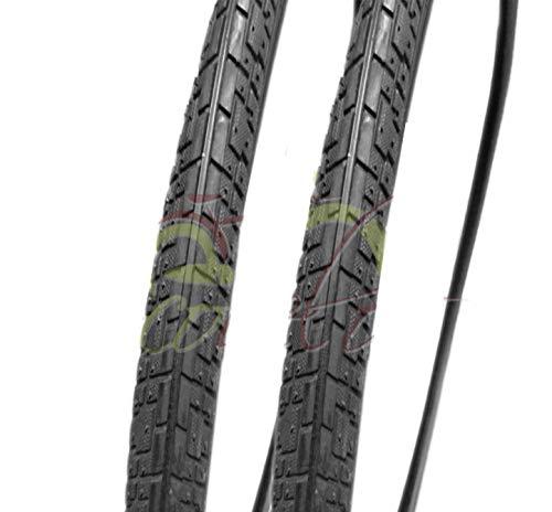 2 COPERTONI Neri 700 x 35C (37-622) 28 x 1 5/8 x 1 3/8 per City Bike Trekking Bicicletta | Pneumatici Stradali Neri in Gomma Bici