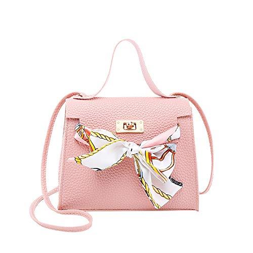Handtasche Kelly, Schloss Kleine Tasche Dame-Verschluss Arbeitet Schulter-Beutel-beweglicher Messenger Bag (Color : Pink, Size : 17.5x12.5cm)
