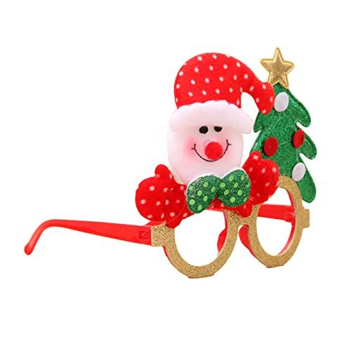 ZYYXB Gafas de Navidad con diseo de oso de Snata y alce, regalo para fiestas, mueco de nieve