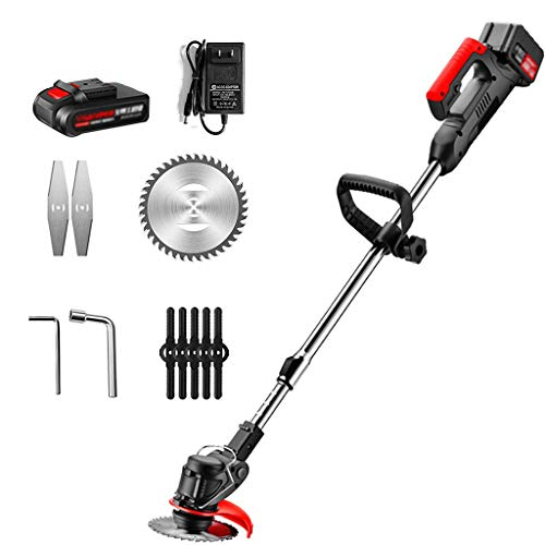 FGHTH Cordless Grass Trimmer Lawn Mower Electric Garden Handheld Strimmer with 48V Lithium-Ion Battery, 8 Blades