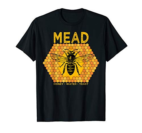 Mead by Honey Bees Meadmaking Home brewing Retro Drinking T-Shirt