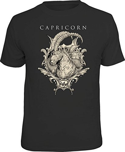 Original Sternzeichen Geschenk T-Shirts für den Horoskop-Fan: Steinbock - Größe S