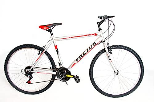 F.LLI MASCIAGHI Bici Uomo Bici 26' 18 Velocita' Cambio SAIGUAN Colore GRIGGIO/Rossa Nera Bicicletta Bike*****Ok- VA Bene per Una PERSANA Alta CM 145 A 170 CM New