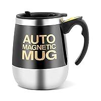 自己攪拌マグ、電気ステンレス鋼自己混合カップ磁気攪拌コーヒーマグ、攪拌コーヒーマグ(#1)