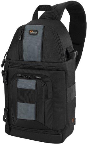 Lowepro SlingShot 202 AW SLR-Kamerarucksack (für SLR mit Standardobjektiv sowie 4 zusätzlichen Objektiven, Blitz) schwarz