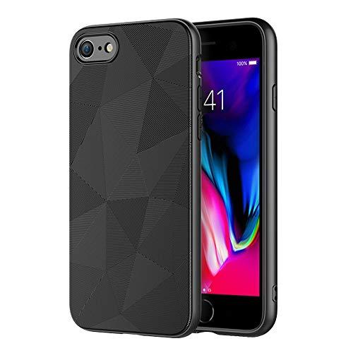 IYUPP Cover iPhone 7/8 / SE 2020 Nero Custodia - Magic Triangle - Rugged TPU Premium Texture - Antiurto Protettiva Case