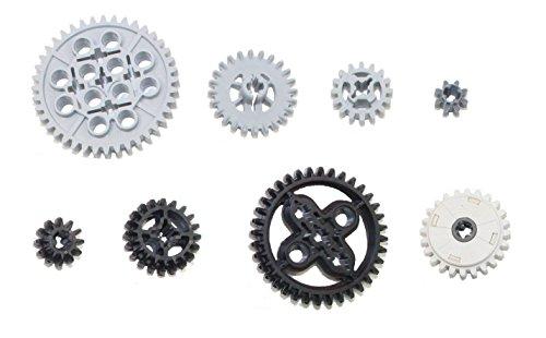 LEGO TECHNIC - 8-teiliges Zahnräder - Set (je 1 Zahnrad in 8 verschiedenen Sorten)