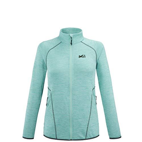 Millet - Tweedy JKT W - Leichte Fleece-Jacke für Damen - Kapuze - Bergsteigen, Wandern, Trekking, Lifestyle - Mentholblau
