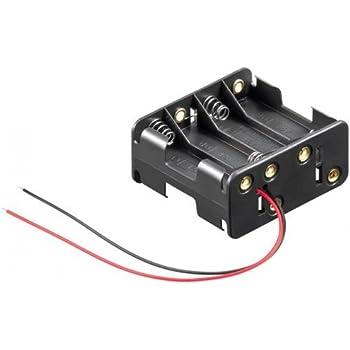 Portapilas para 8 Pilas LR6 AA, Cablepelado: Amazon.es: Electrónica