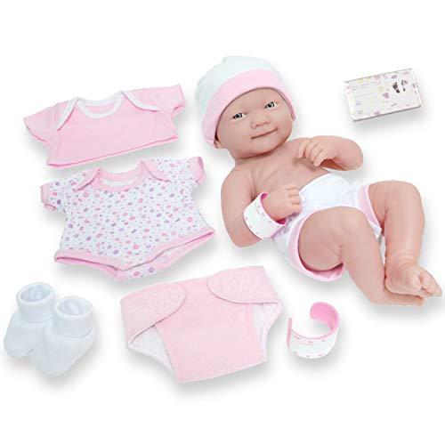 Berenguer Dolls 18543_La Newborn 8 Piece Layette gift set, 14-inch , Pink
