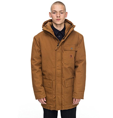 DC Apparel Herren Canongate - Parka Jacket, Sudan Brown, L