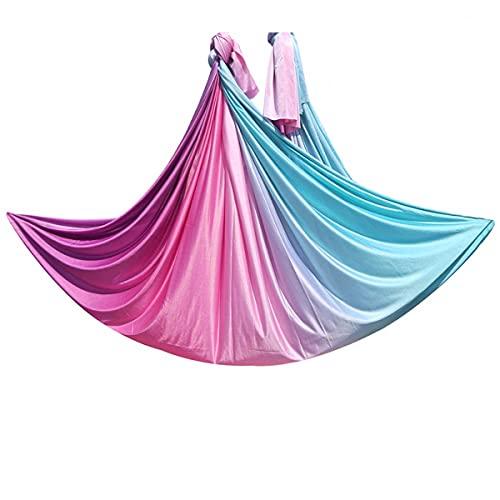 Linyuex Kit de Hamaca de Yoga aérea de Nylon de 5.5yard / 5m para Mejorar la flexibilidad de Las inversiones de Yoga Mejorada y la Fuerza del núcleo (Color : Style M)