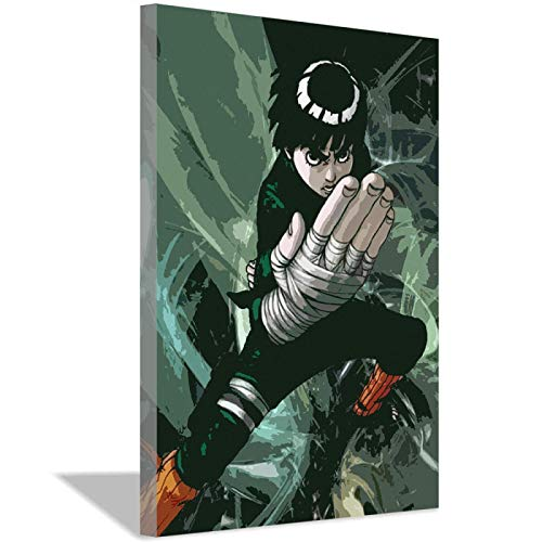 xwlljkcz Naruto Anime Rock Lee Canvas Art Poster Wall Art Canvas Picture Painting Bedroom Home Office Decoration Living Room Mural 40x60cm(16x24inch) Frameless