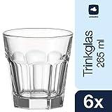 Leonardo Rock Whiskey-Glas, Trink-Becher aus Glas, spülmaschinengeeignete Wasser-Gläser, 6er Set, 265 ml, 012999