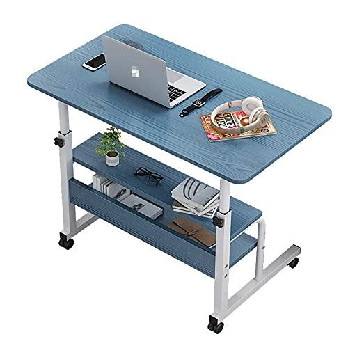 ZHANGYY Escritorio portátil para computadora portátil Escritorio móvil con Ruedas Escritorio para computadora portátil Escritorio para Oficina en casa (Color: Azul, Tamaño: Talla única)