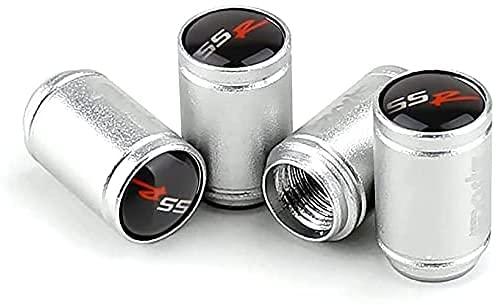 4 Piezas Coche Neumáticos Tapas Válvulas para Chevrolet Aveo Cruze Malibu Captiva Lacetti Camaro Sail, Antirrobo Prueba Polvo Impermeable Coche Decoración Accesorios