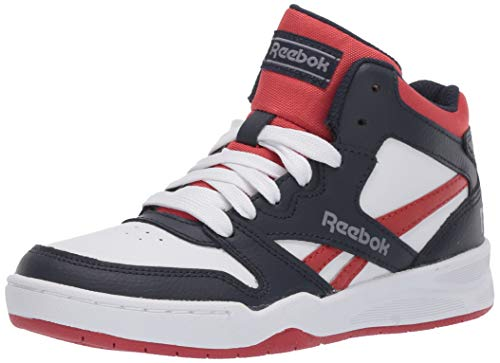 Reebok Boys' BB4500 Court Sneaker, Collegiate Navy/Legacy red/Cold Grey, 5.5 M US Little Kid