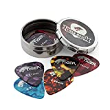 Best Guitar Picks - Tiger Guitar Plectrums with Pick Tin - 12 Review