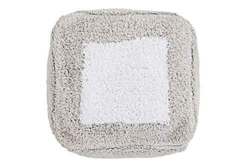 Lorena Canals Pouff Lavable Pouffe Marshmallow Square Gris Perla, Blanco -Funda: 97%...