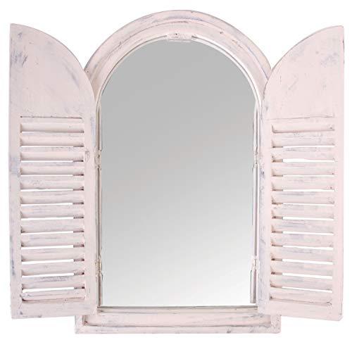 Fenêtre miroir style shabby chic antique en bois