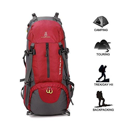 pas cher un bon Geila sac à dos de randonnée, sac à dos de sports de plein air 60L sac à dos de voyage sac à bagages…
