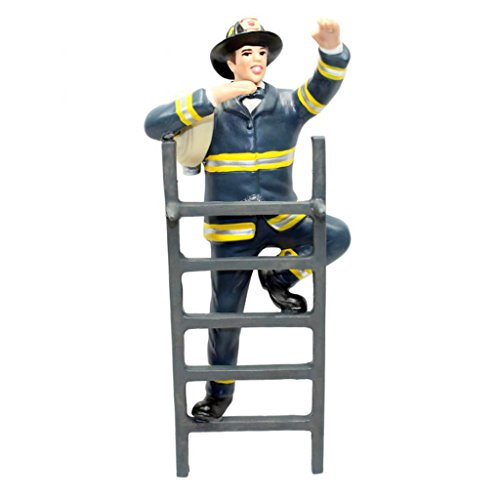 Firefighter Cake Topper with Ladder