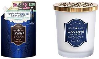 [Set Purchase] Lavon Fabric Softener, Large Capacity, Luxury Relaxed, Refill, 32.8 fl oz (960 ml) & Room Air Freshener, Lu...