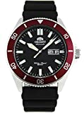 Orient RA-AA0011B Men's Kano Silicone Band Red Bezel Black Dial Automatic Dive Watch
