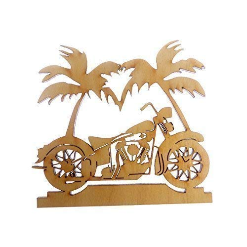 Personalized Motorcycle Ornament Palm Austin Mall Christm - Tree Limited time sale