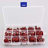 XFB-Herramienta, Paintball Durable Socket de Silicona O-Ring Red Gasket Reemplazos Juntas tóricas de estanqueidad acopladores rápidos de Ajuste 15 Tamaños 225pcs = 1BOX