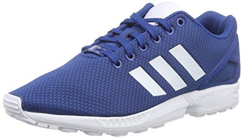 adidas Zx Flux - Zapatillas de deporte para hombre, Azul marino / Blanco, 44