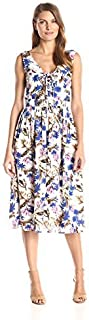 Everly Women's Front-Tie Floral Midi Dress