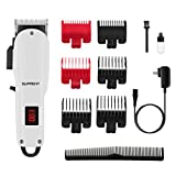 Cordless Hair Clippers for Men, SUPRENT Professional Rechargeable Hair Trimmer Hair Cutting Kit