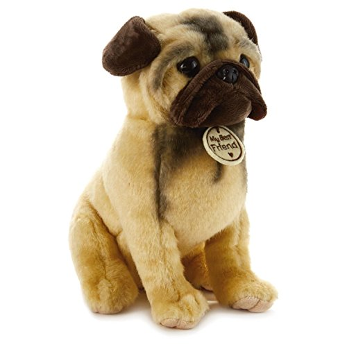 Hallmark My Best Friend Large Pug Plush Stuffed Animal