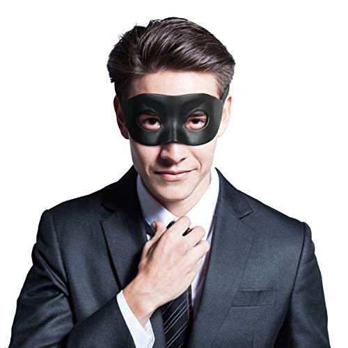 Men's Black Venetian Mardi Gras Masquerade Mask...