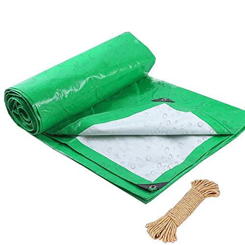 GLP Tarpaulin Rainproof Cloth Sunscreen Thickening Tarpaulin Outdoor Tarpaulin Green Cloth Truck Special Crepe Insulation Plastic Cloth (Size : 6X16m)