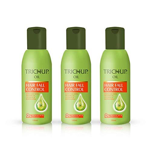 Trichup Hair Fall Control Lot de 3 huiles capillaires à base de plantes 100 ml