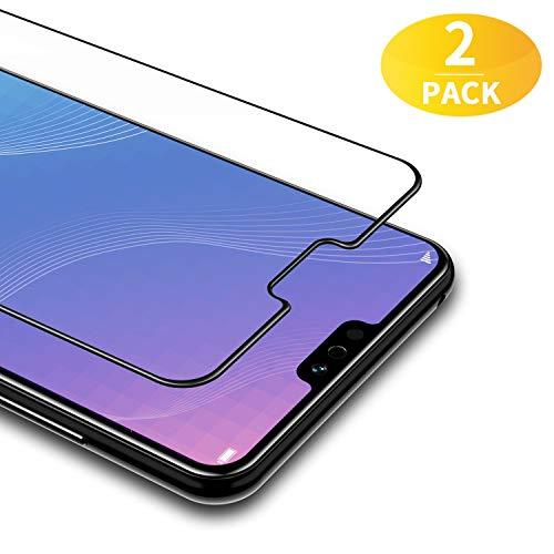 BANNIO [2 Pacco Pellicola Protettiva per Huawei Honor View 10 Lite,Full Screen Pellicola Vetro Temperato,Copertura Completa con Alta Trasparente per Huawei Honor View 10 Lite/Huawei Honor 8X,Nero