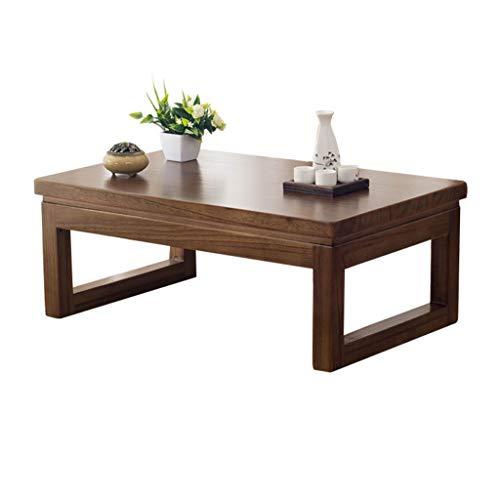 Tables basses Table Basse Table En Bois Massif Plancher Baie Vitrée Table Tatami Table Basse Japonaise Balcon Table Ronde Régulière Coin Bas Thé Table Rebord Cadeau (Color : B, Size : 60 * 40 * 30cm)