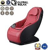 NATALE -80€ I GURU Poltrona massaggiante Shiatsu 2D - Rosso (modello 2019) - Poltrona relax con 3 programmi di massaggio – Sedia massaggiante con sistema Bluetooth e USB - 2 Anni di Garanzia