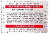Dual Scale Wet Film Gauge in Microns and Mils, 10 Pack