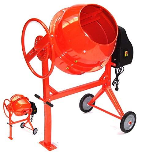 Betonmischer 140L Betonmischmaschine 55447 Mörtel Mischmaschine Zementmischer AWZ